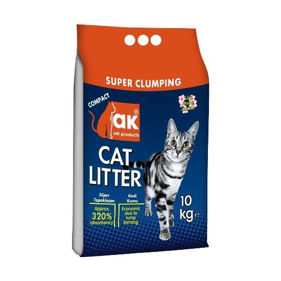 AK Cat Litter Pó Talco - Super Clumping 10Kg