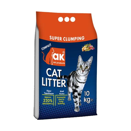 AK Cat Litter Sabão Marselha - Super Clumping 10Kg