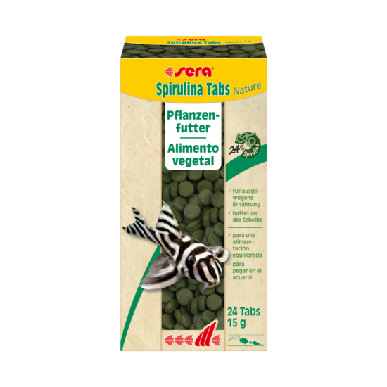 Sera Spirulina Tabs Nature 24 past. (15 g)